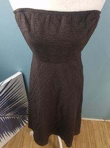 J. Crew Brown Cotton strapless dress size 2
